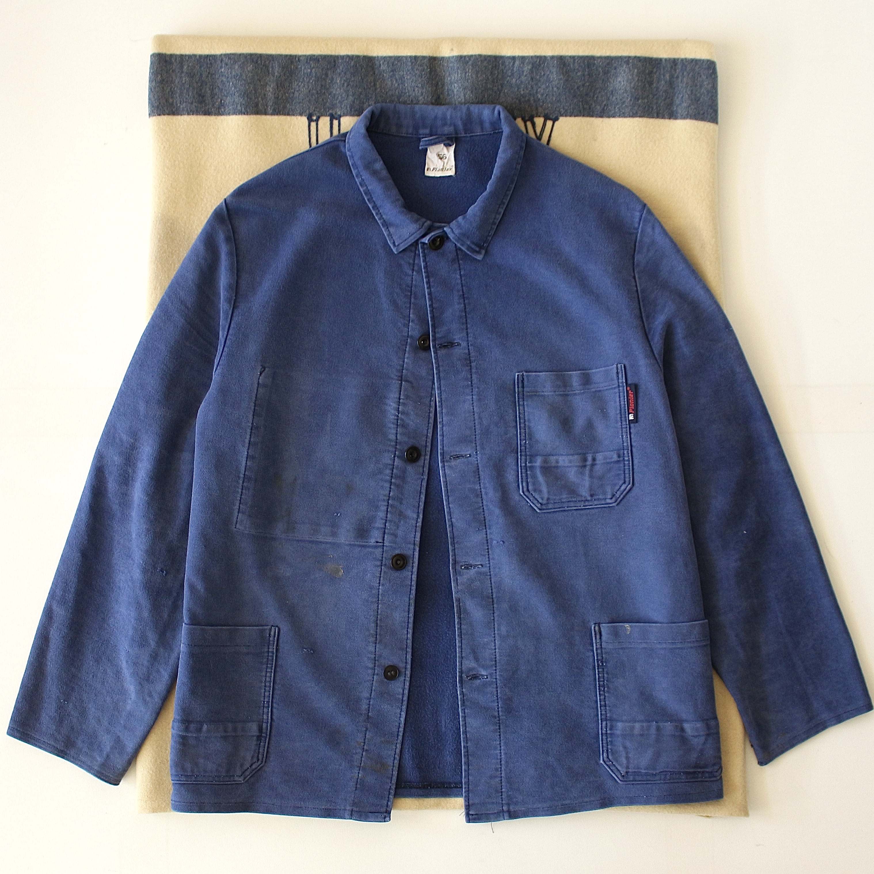1950-60's PIONEER Moleskin French Work Chore Jacket (105size)