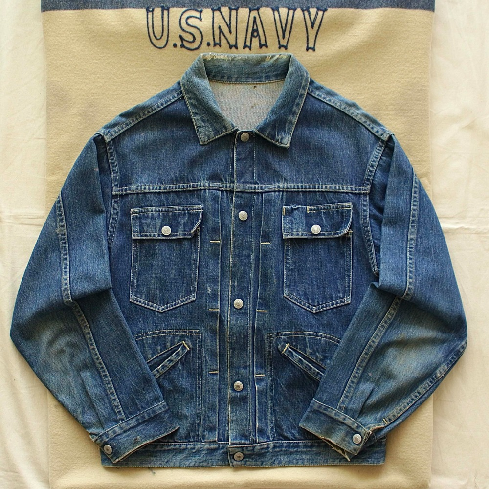 RARE 1960's JCPenny FOREMOST Trucker Denim Jacket (100-105size)