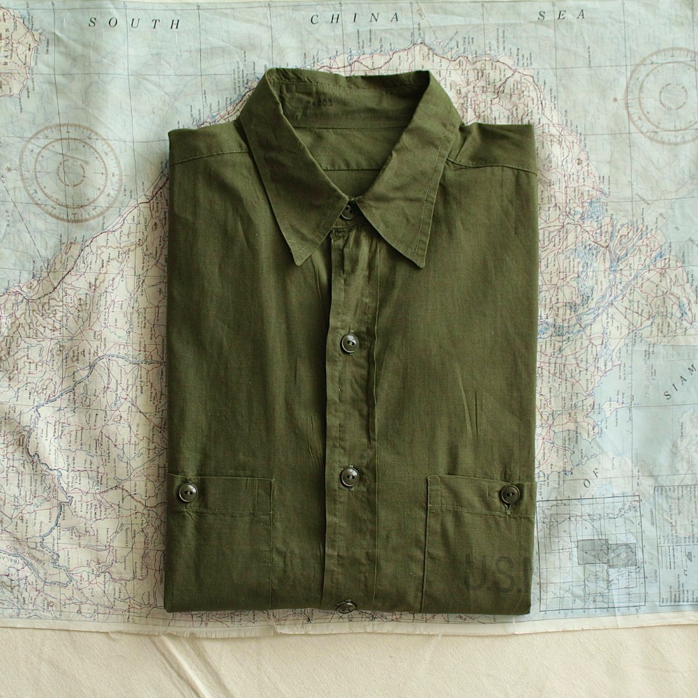 Deadstock 1940's WW2 USN / Seabee's N-3 Tropical Work Shirt (100-105size)