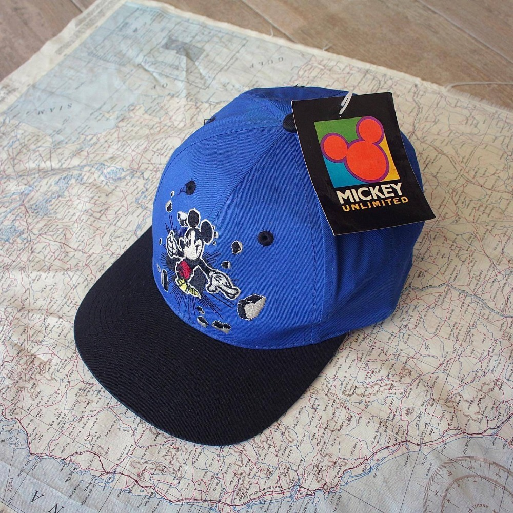 1990's NOS MickeyMouse 6-Panel Cap (Free size)