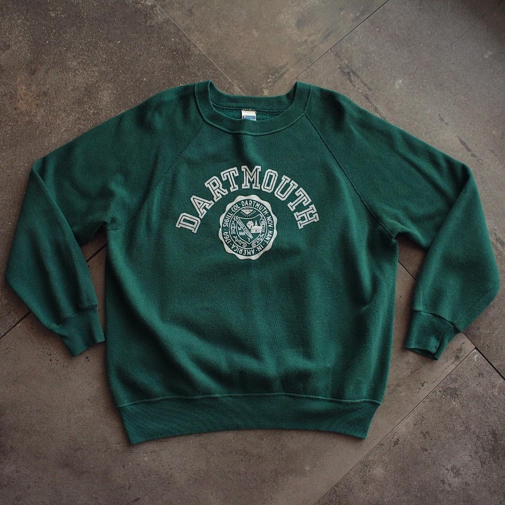 Rare 1980's Champion DARTMOUTH Univ. Raglan Sweat (loose 100-103size)
