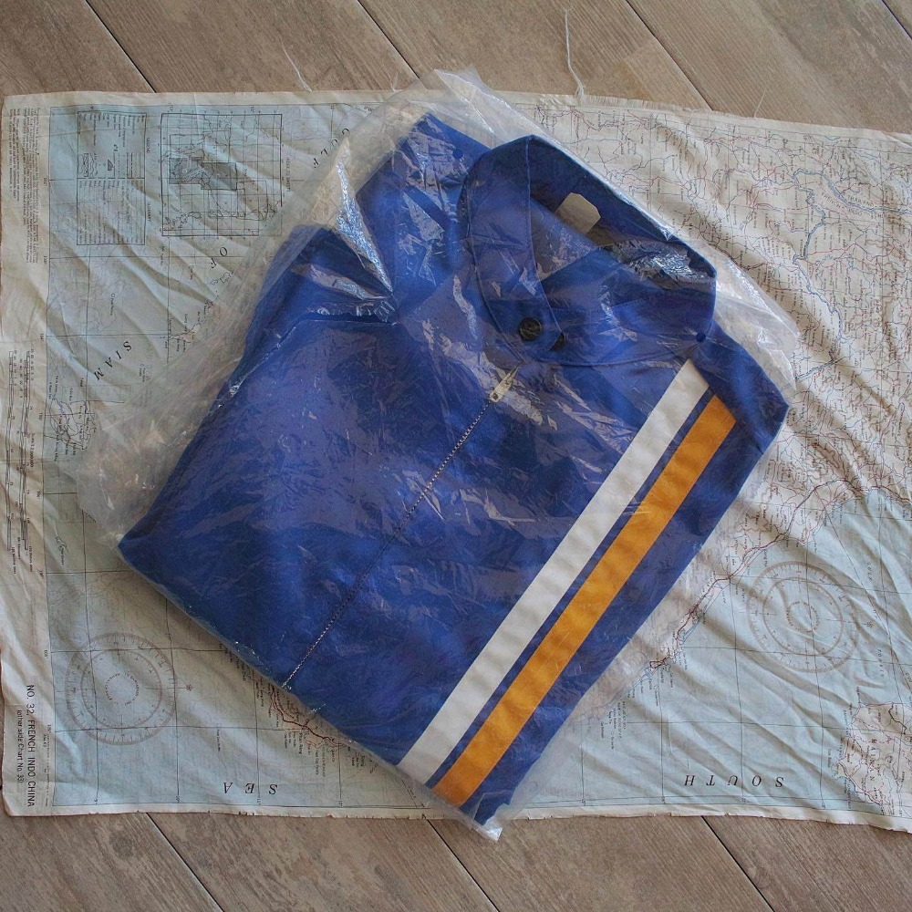 Rare 1960's NOS Champion Chin-Stripe Racing Jacket (105-110size)