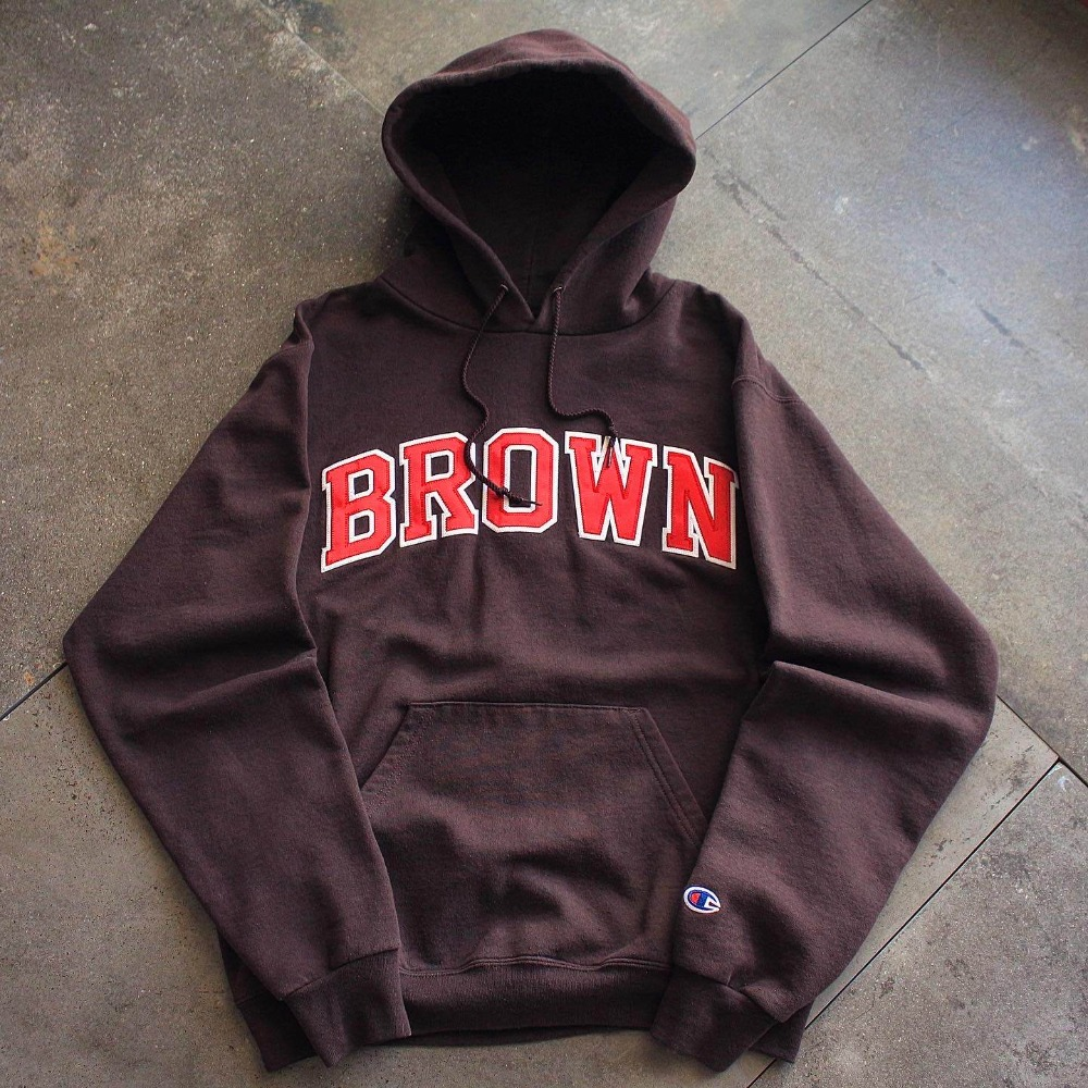 1990's Champion BROWN Univ. Hooded Sweat (100size)