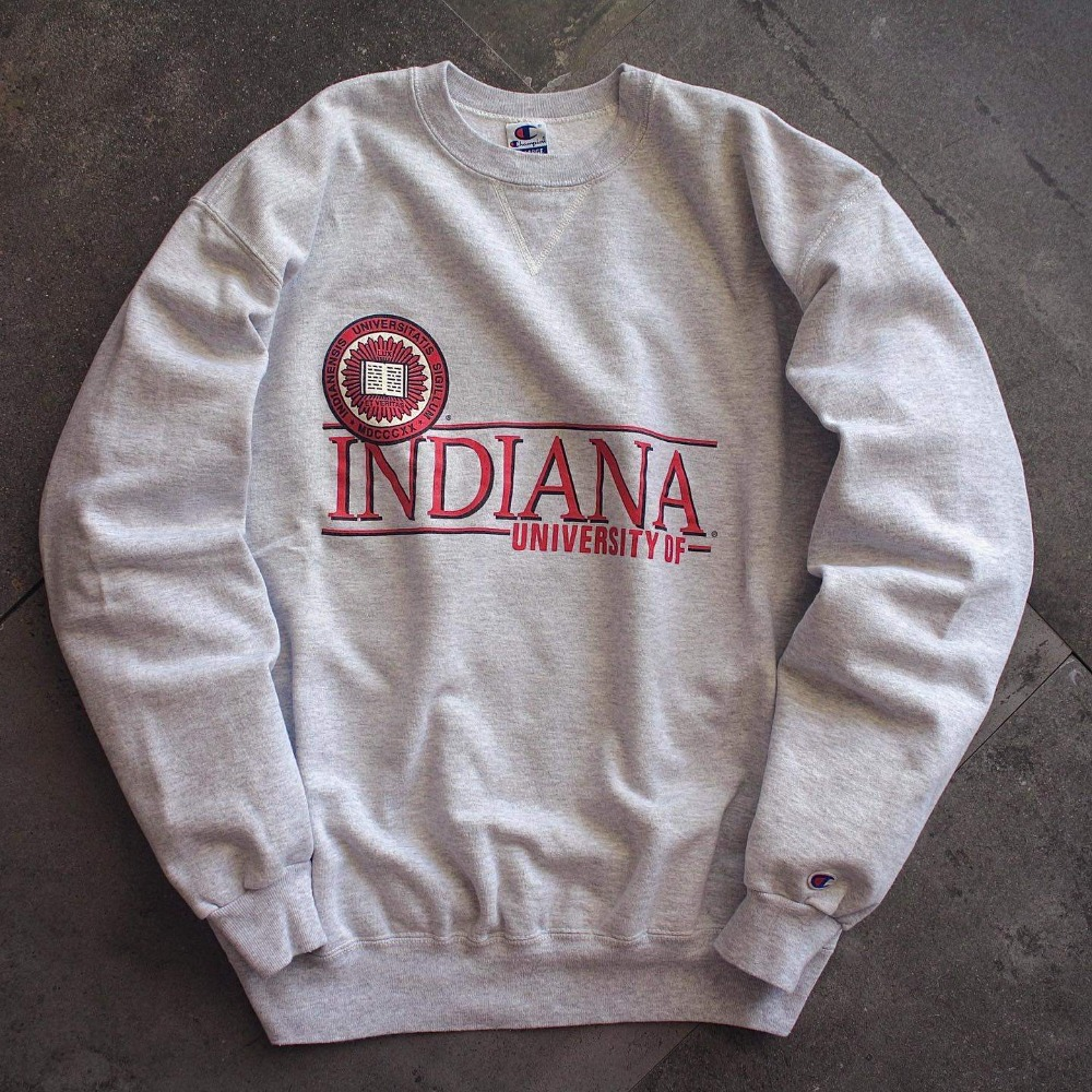 1990's Champion INDIANA Univ. Single V Stitch Sweatshirt (105-110size)