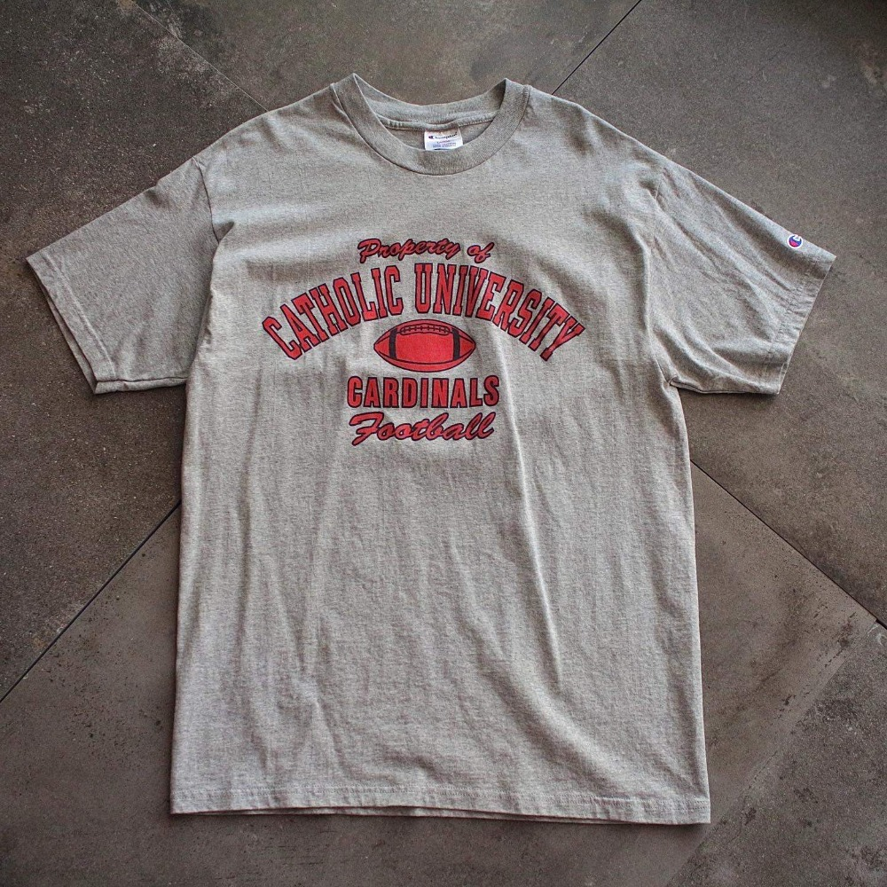1990's Champion Catholic Univ. Football T-Shirt (loose 100size)