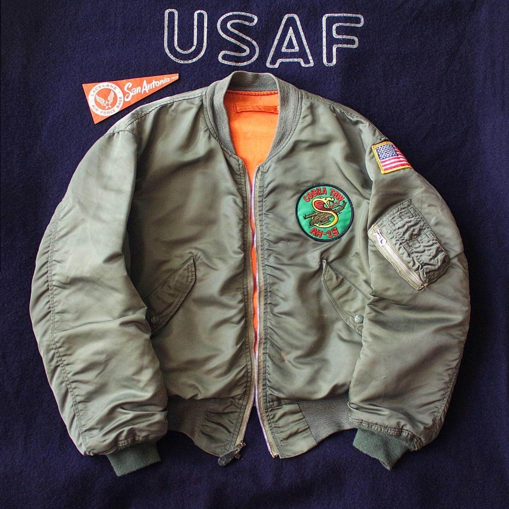 Rare 1970's USMC L-2B Flight Jacket (100-105size)