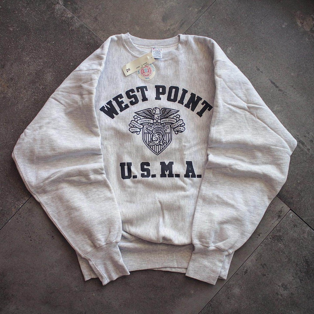 "NOS 1990's Champion ""WEST POINT"" ReverseWeave (loose 105size)"