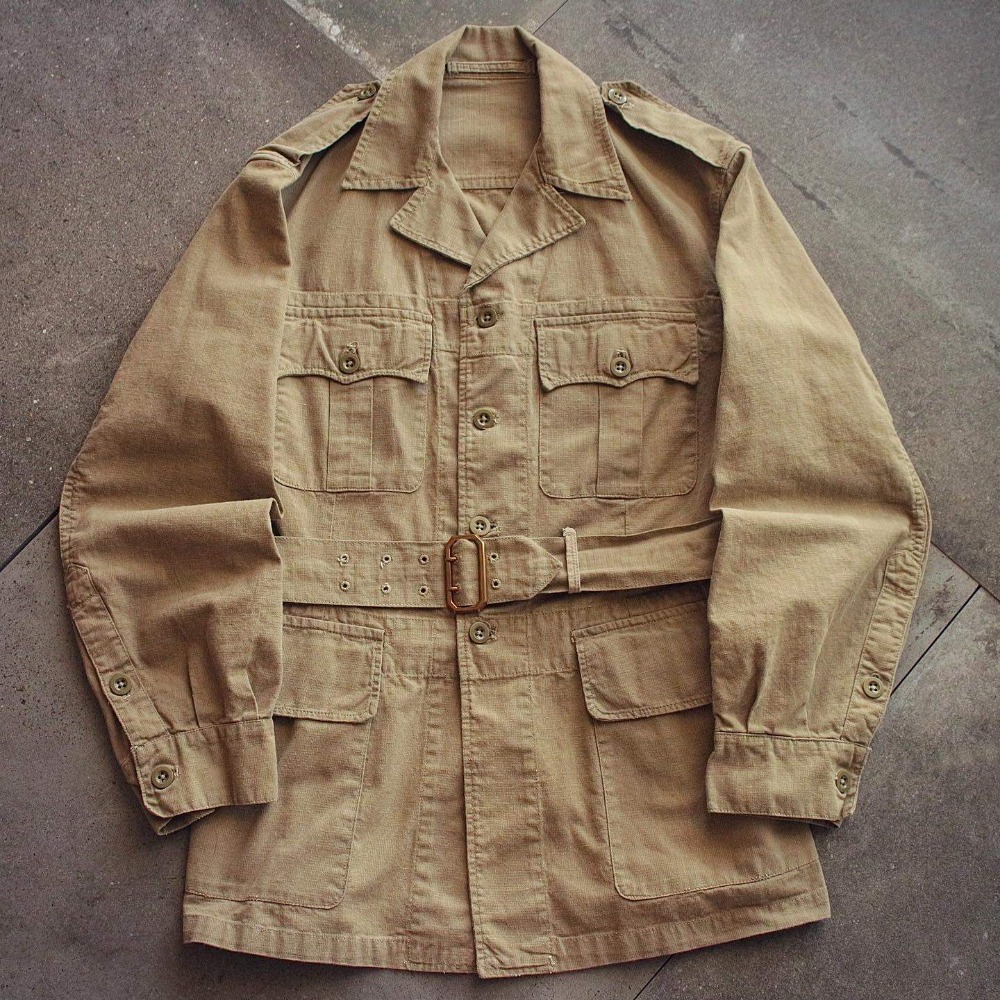 Rare 1950's British Army Tropical Bush Jacket (loose 100size)