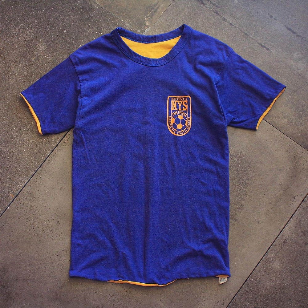 Rare 1970's Champion Naperville Soccer Reversible T-Shirt (95size or Womans Free)