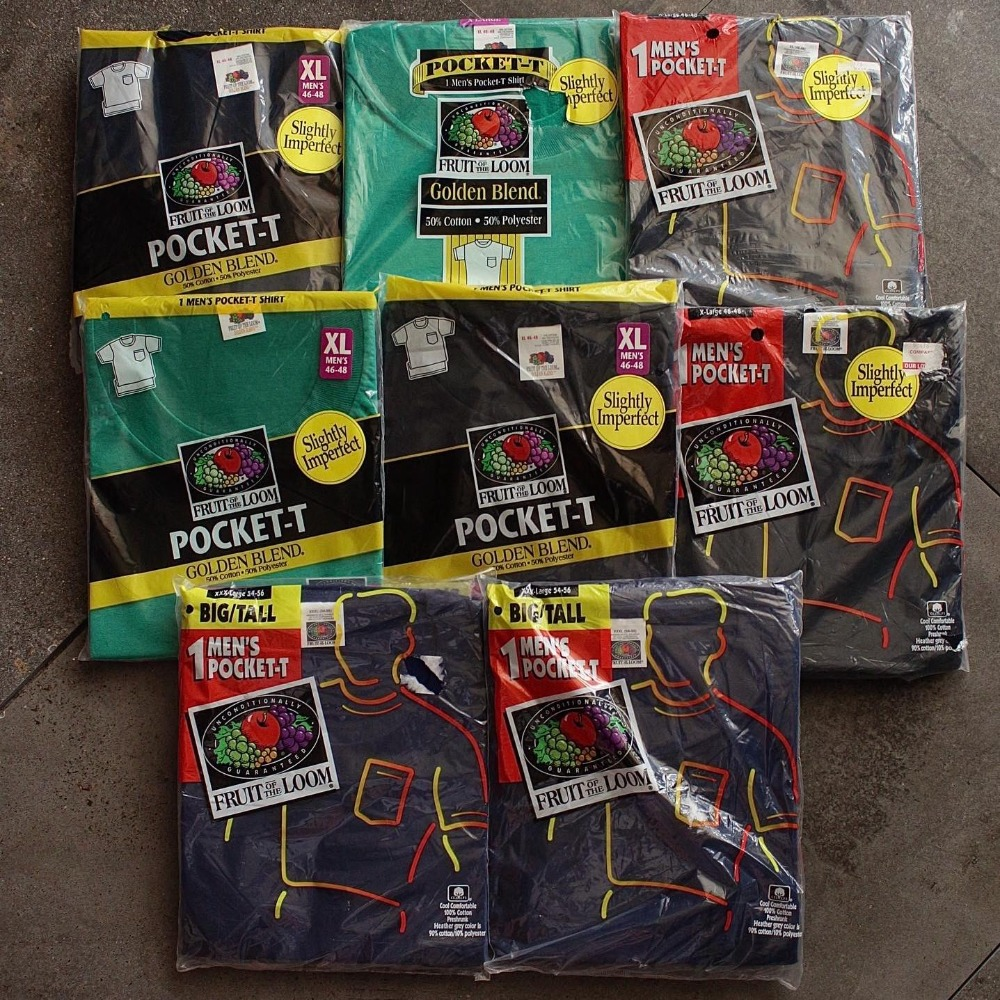 NOS 1990's Fruit of the loom Classic Pocket T-Shirt (100~110size)