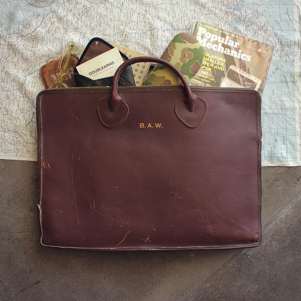 Rare 1960's L.L.Bean Leather Brief Case