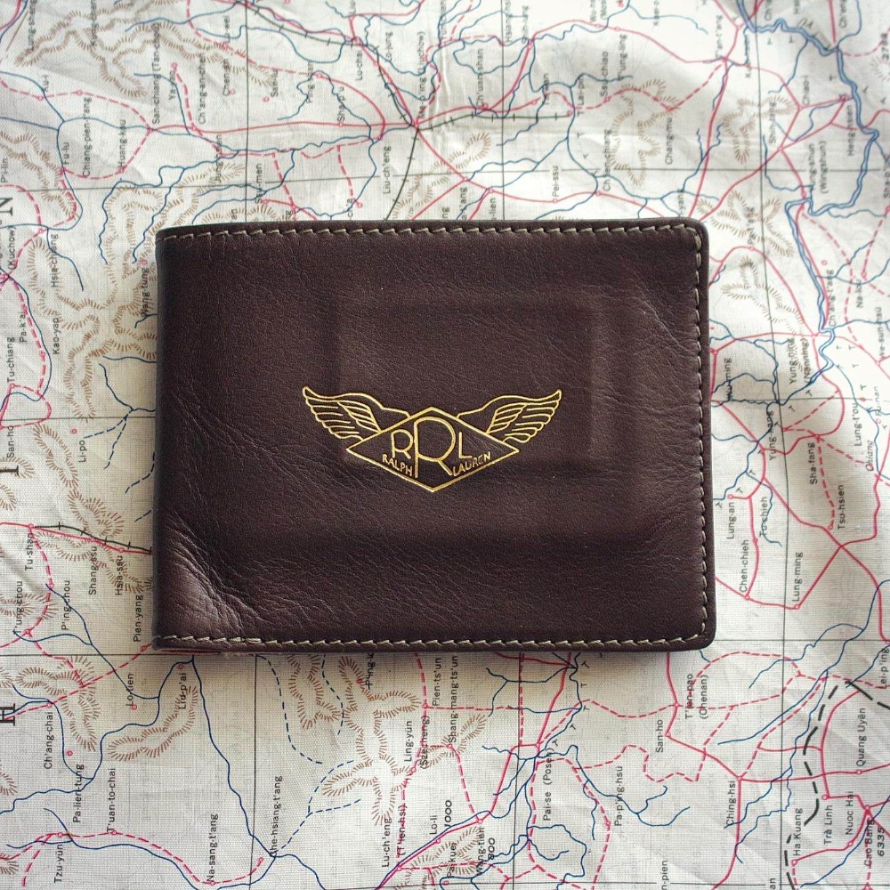 Double RL (RRL) AAF Wing Leather Half Wallet