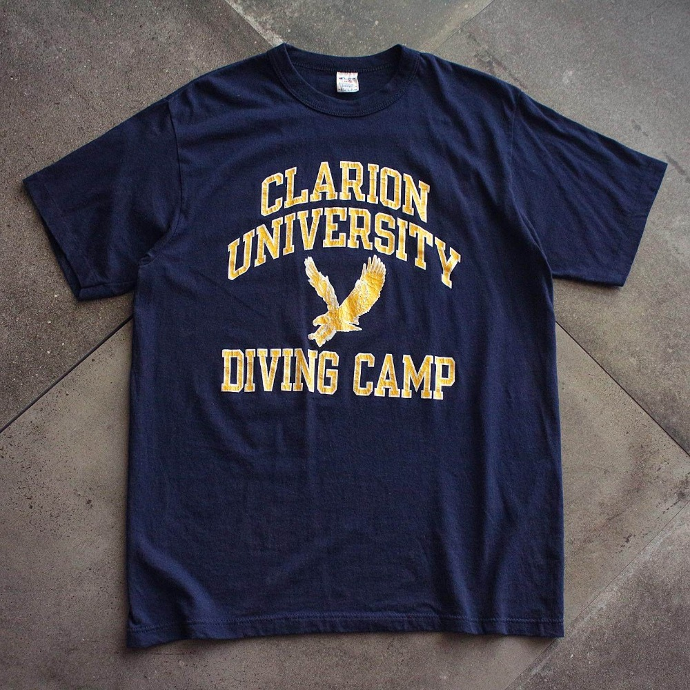 Rare 1980's Champion Clarlion Univ. Diving Camp T-Shirt (100size)