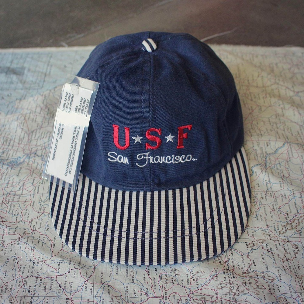 NOS 1990's San Francisco Univ. 6-Panel Ball Cap (Free size)