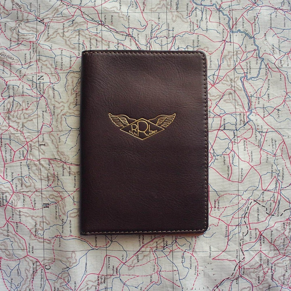 Double RL (RRL) AAF Wing Leather Passport Wallet